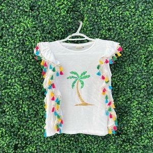 Cute Zara Shirt With Dangling Tassels